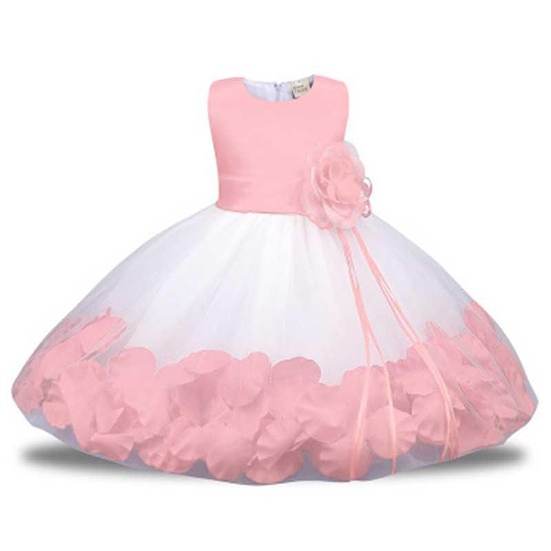 6130e3bed Baby Girl Dress petal Princess Children Party Dress for Summer Girls ...