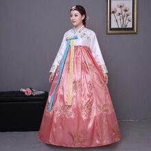 Расшитый блестками корейский традиционный костюм ханбок женский корейский дворцовый костюм ханбок платье национальный танец одежда для сценического шоу 89