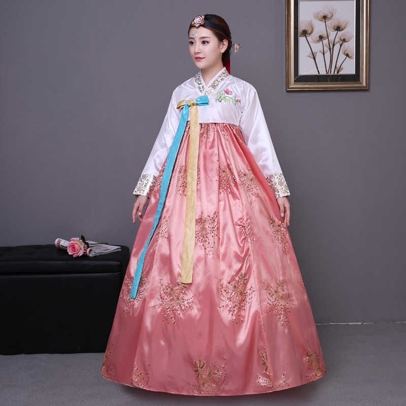 9a4c7316d Sequined Korean traditional costume hanbok female Korea palace costume  hanbok dress national dance clothing for stage