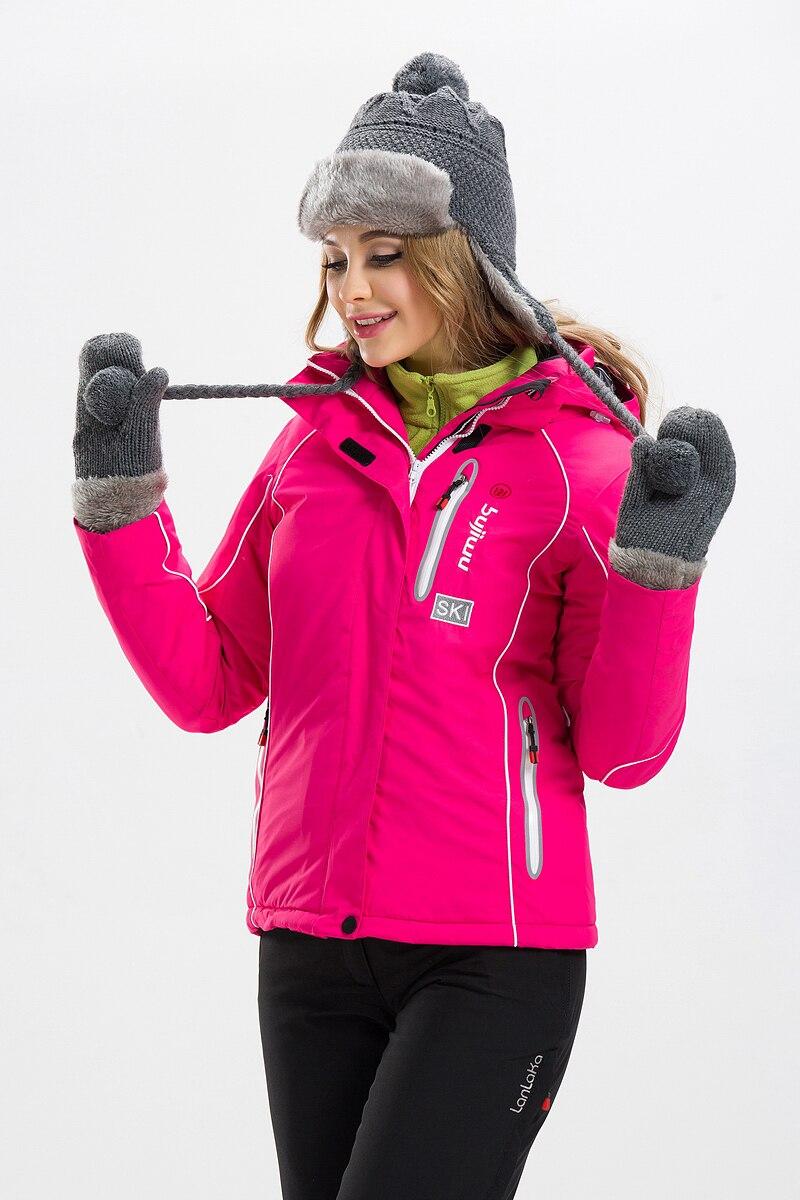 Prix pour 2016 Nouveau Extérieure Thermique Chaud Ski Veste Imperméable Coupe-Vent En Plein Air Sport Snowboard Manteaux Femmes Ski Neige Vêtements