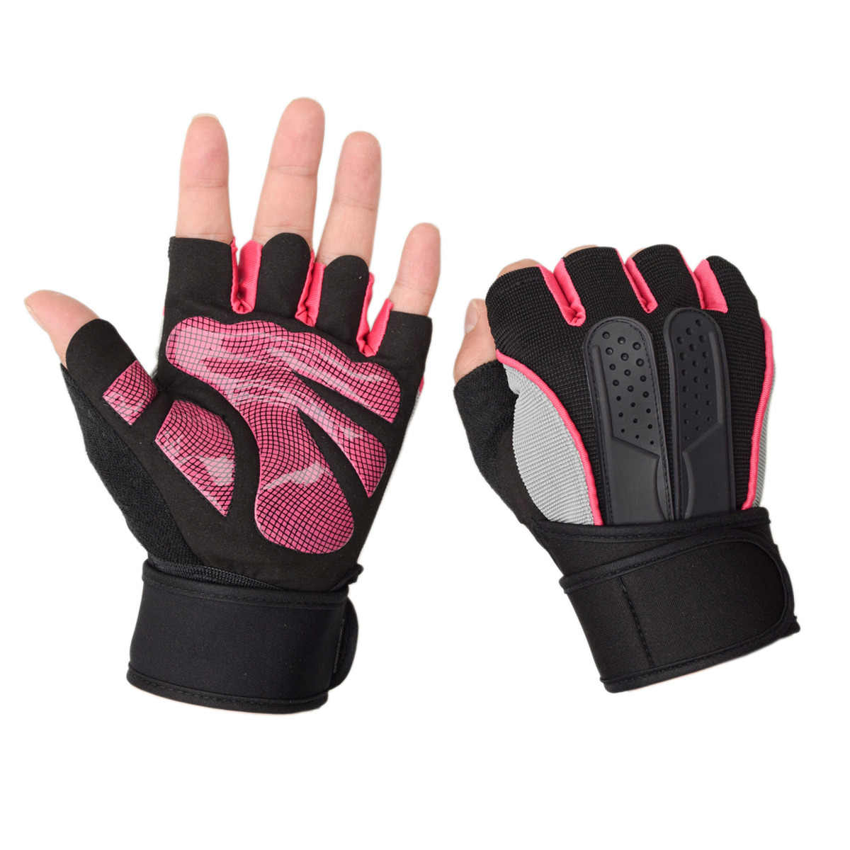 Women Sports Gym Training Gloves Half Finger Fitness Exercise Gloves Non-slip Weight Lifting Body Building Breathable Gloves