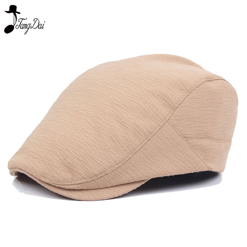 Classical Beret Warm Autumn Winet Solid Golf Driving Cabbie Hat Newsboy Cap Mens Retro Casual Ivy Hat Visor Cap
