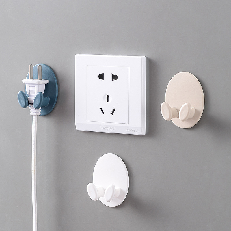 Image 4 - 1 Piece  Creative Shape Strong Hook Adhesive Multi Purpose Hooks Wall Mounted Mop Organizer Holder Plug Kitchen Bathroom Hooks-in Bathroom Hooks from Home & Garden