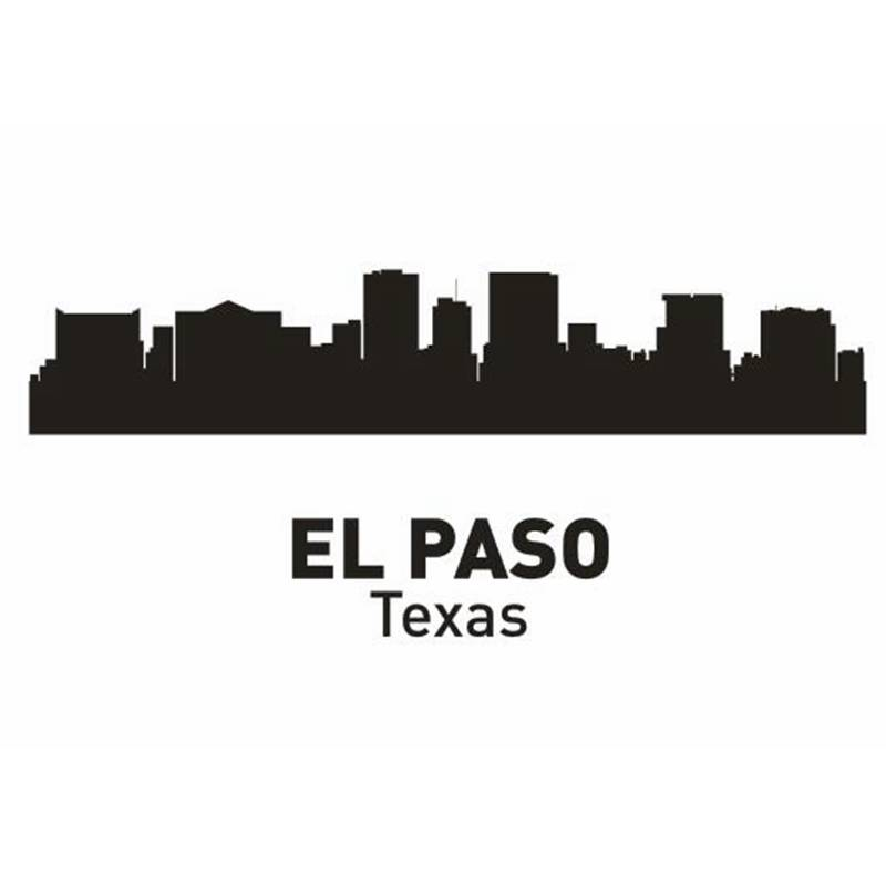 EL PASO City Decal Landmark Skyline Wall Stickers Sketch Decals Poster Parede Home Decor StickerEL PASO City Decal Landmark Skyline Wall Stickers Sketch Decals Poster Parede Home Decor Sticker