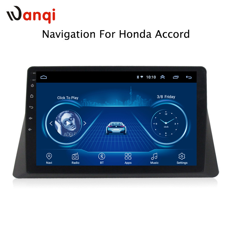 10.1inch Android 8.1 Car GPS Navigation For <font><b>Honda</b></font> <font><b>accord</b></font> 2008-2013 Support Stereo Audio Radio Video Bluetooth image