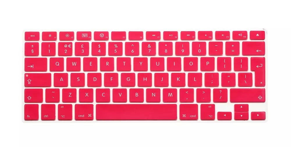 pink EU Version US keyboard skin protector film for macbook air pro retina laptop notebook