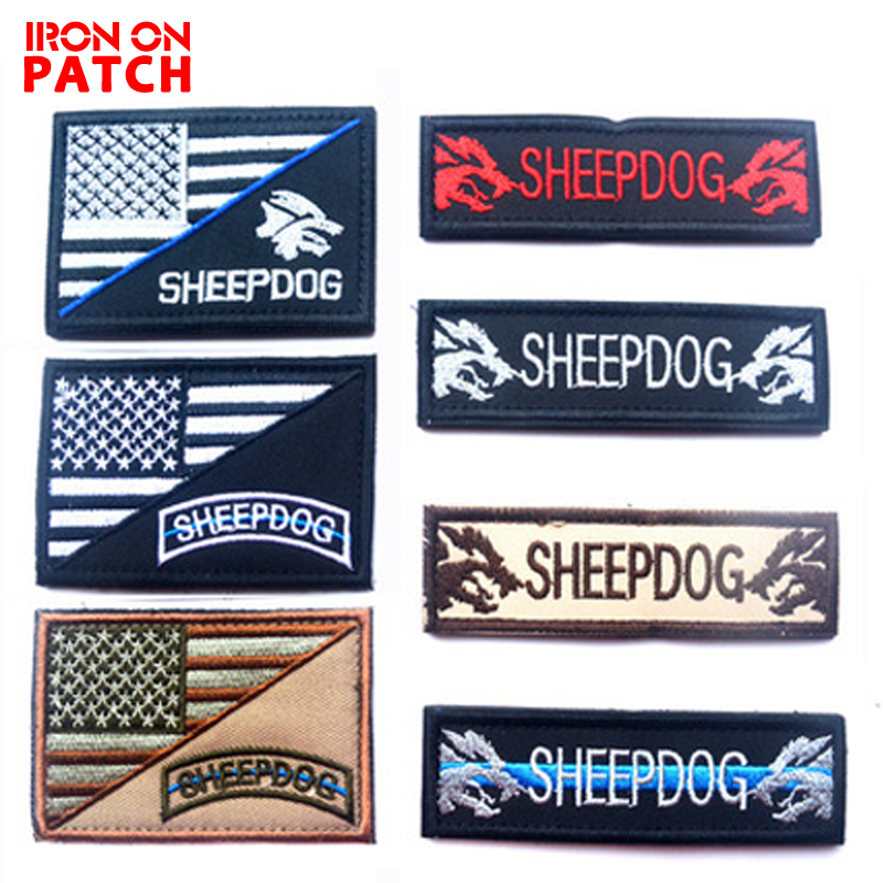 Flight Tracker United States Flag Medical Sheepdog Patch Morale Tactical Patches Hook&loop Embroidery Badge Military Army Armband For Clothes To Rank First Among Similar Products Rock & Pop