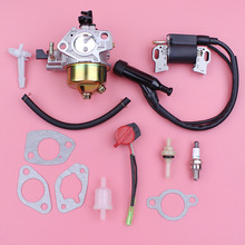 Carburetor Carb Ignition Coil For Honda GX390 13HP GX 390 Lawn Mower Engine Motor On off Stop Switch Fuel Joint Filter Kit carburetor carb gasket repair rebuild kit for honda gx390 13hp gx 390 lawn mower engine motor part fuel line choke rod