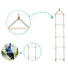 Монтажная детская деревянная альпинистская рама, обучающая уличная веревочная лестница, уличные инструменты, оборудование