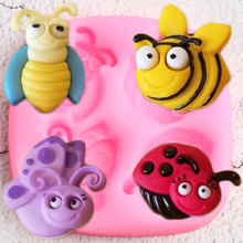 Gumpaste Moulds Ladybug Fondant-Molds Cake-Decorating-Tools Chocolate Candy Clay Butterfly