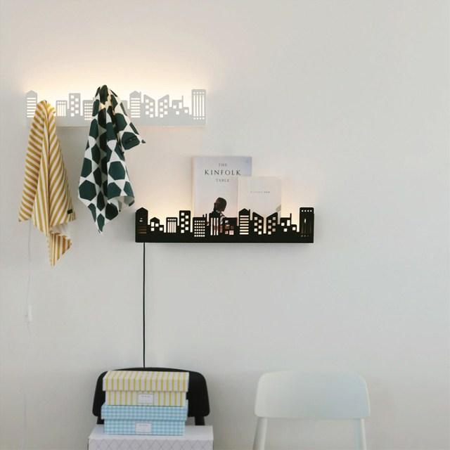 Moderne ijzer wereldkaart led wandlampen gang gangpad lichten woonkamer badkamer verlichting - Gang idee ...