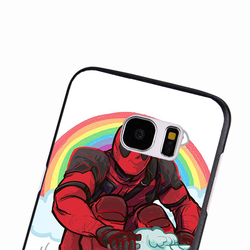 LvheCn phone case cover For Samsung Galaxy S3 S4 S5 mini S6 S7 S8 edge plus Note2 3 4 5 7 8 Deadpool Funny Unicorn Marvel Joke
