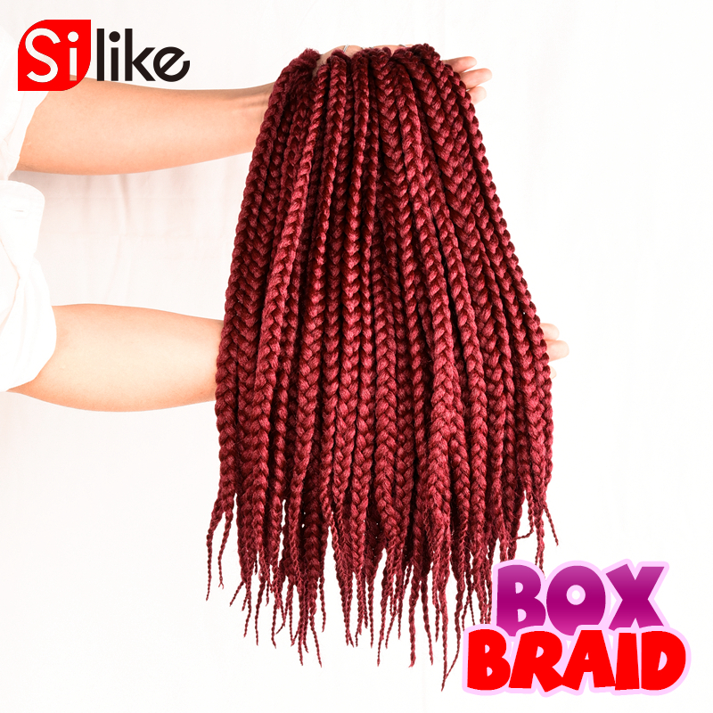 18 Bug Crochet Box Braid Medium Synthetic Crochet Braids Hair ...