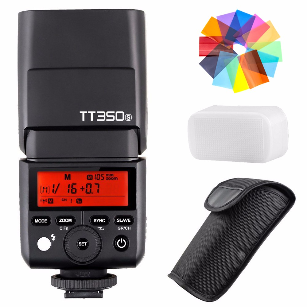 Godox TT350S 2.4G HSS 1/8000s TTL GN36 Wireless Speedlite Lamp Flash for Sony A7 A7R A7S A7 II A7R II A7S II A6300 A6000 Camera godox tt600s flash speedlite for sony multi interface mi shoe cameras a7 a7s a7r a7 ii a6300 etc