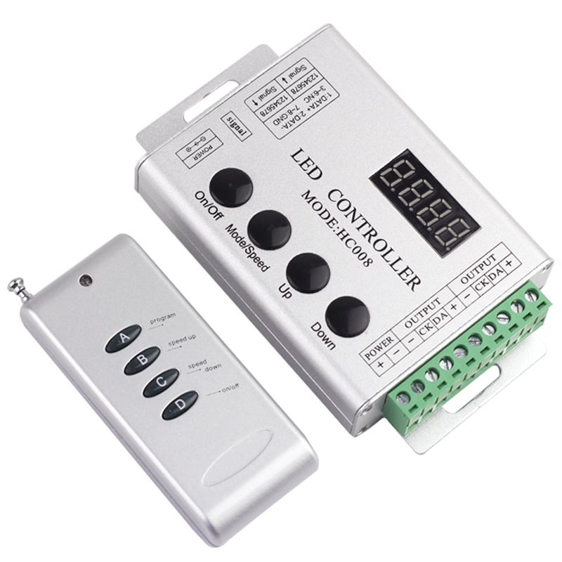 DC5 24V WS2811 WS2812b WS2813 Pixel RGB LED Strip Remote Controller built in 133kinds light effect