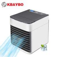 KBAYBO Mini USB Aire acondicionado verano Ventilador viento ventilador natural Ventiladores de aire con luz LED de 7 colores