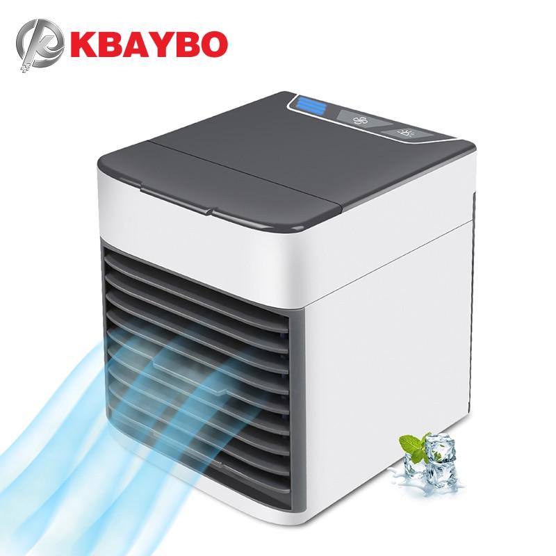 KBAYBO USB Mini Ventiladores de aire acondicionado Aire verano viento Ventilador ventilador natural luz CONDUZIDA de 7 con colores