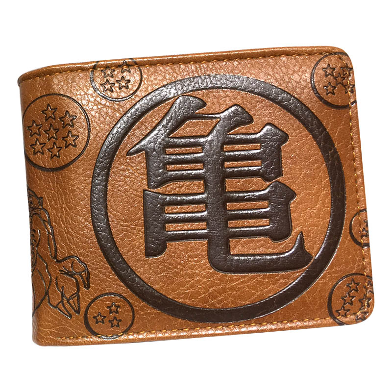 Bifold Wallet Purse Brown One-Piece Naruto/dragonball Card-Holder Men Z-Logo New title=