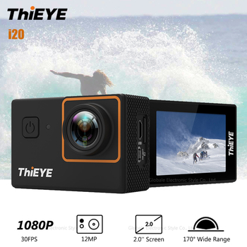 Original ThiEYE i20 Sport Action Camera 1080P Full HD 12MP Waterproof IP68 2.0 inch Screen 170 Degrees Wide Angle Portable