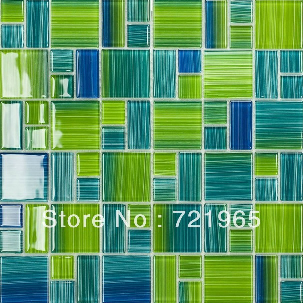 Green Glass Tile Bathroom: Blue Glass Mosaic Swimming Pool Tile CGMT110 Green Glass