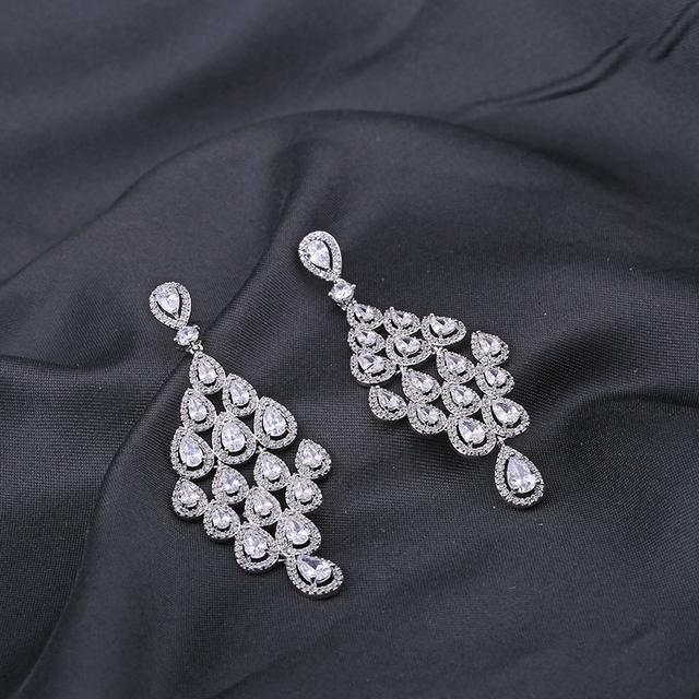 Water drop Cubic Zircon Earring Romantic Dangle Earrings