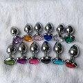 Nuevo Popular de cristal Berg Plata color metal patio trasero plug anal de acero inoxidable engancha Un Tamaño Pequeño 1 unidades