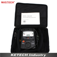 2500V Digital/Analogue Megger Pointer Insulation Resistance Tester Max to 100000Mohm MASTECH MS5202