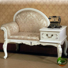 White Tel chair Solid wood telephone chair(China)