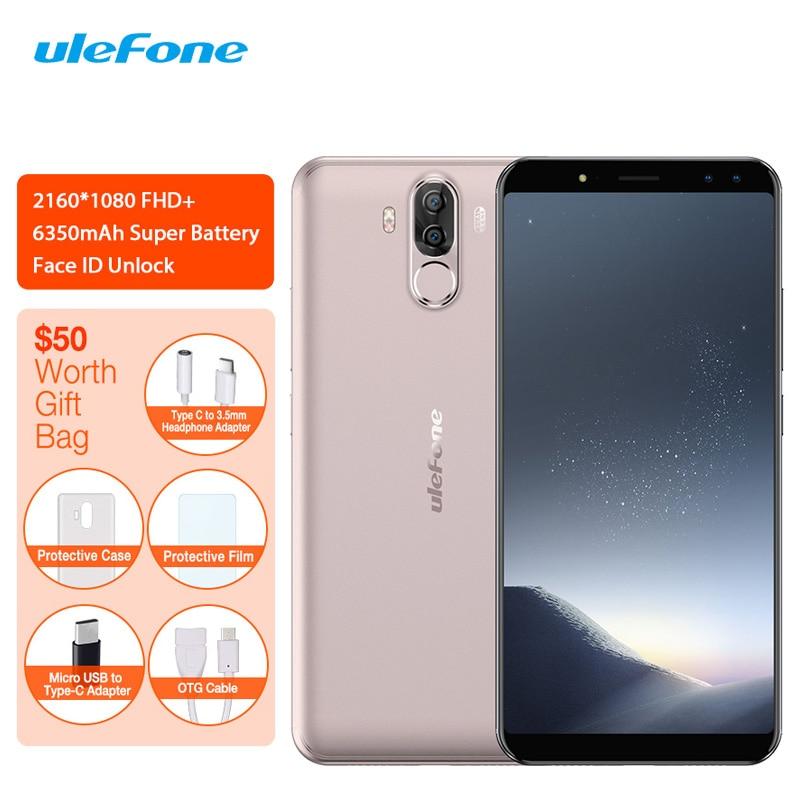 Ulefone di Alimentazione 3 S 4G LTE Mobile Phone Android 7.1 MTK6763 Octa Core Viso ID Impronte Digitali Smartphone 6 Inch 4 GB + 64 GB 6350 mAh 16MPUlefone di Alimentazione 3 S 4G LTE Mobile Phone Android 7.1 MTK6763 Octa Core Viso ID Impronte Digitali Smartphone 6 Inch 4 GB + 64 GB 6350 mAh 16MP