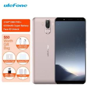Image 1 - Ulefone güç 3S 4G LTE cep telefonu Android 7.1 MTK6763 Octa çekirdek yüz kimlik parmak izi akıllı telefon 6 inç 4GB + 64GB 6350mAh 16MP