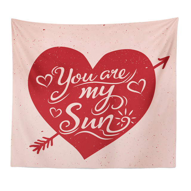 Mandala Valentine Polyester 150*120 Cm Persegi Panjang Permadani Gantung Dinding Karpet Melempar Yoga Tikar untuk Rumah Dekorasi Kamar Tidur 227Z