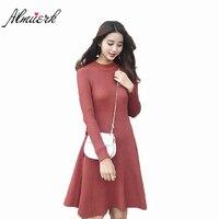 Autumn Winter High Quality Women S Dress 2018 New Sweater Slim Was Thin Dress Womens Temperament