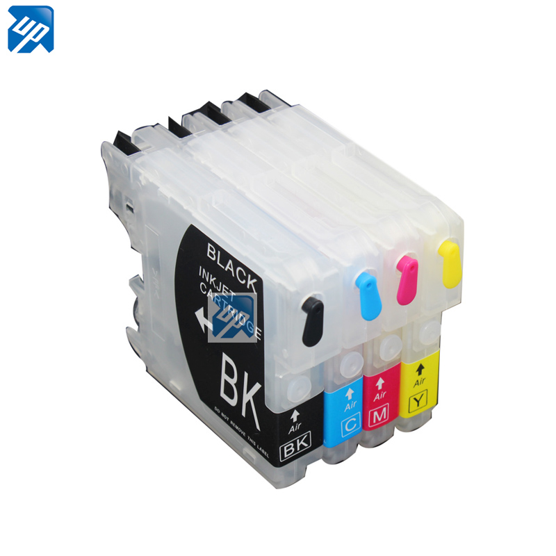 10sets LC39 LC985 LC60 LC975 Refillable ink Cartridges for Brothe MFC J415W J615 J615W J220 DCPJ315