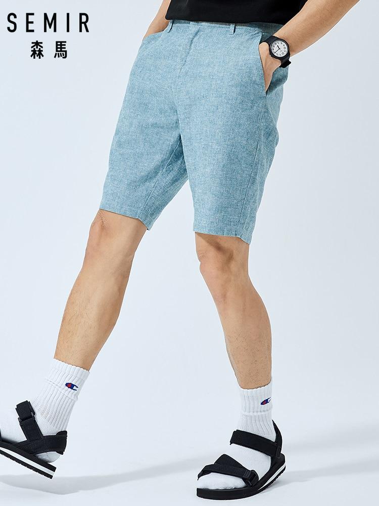 SEMIR Men Casual Shorts Men Summer Cotton And Linen Breathable Comfortable Shorts 2019 New Korean