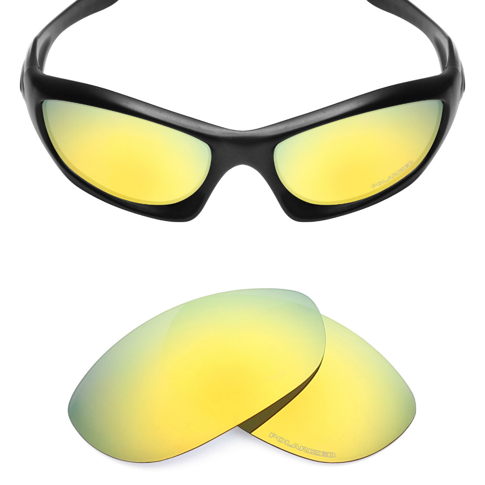 5a829601bf8 Mryok+ POLARIZED Resist SeaWater Replacement Lenses for Oakley Monster Dog Sunglasses  24K Gold