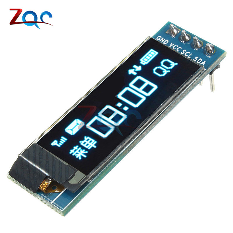 0.91 Inch 128x32 IIC I2C Serial White OLED LCD Display DIY Oled Module SSD1306 Driver IC DC 3.3V 5V For Arduino PIC 0.91 12832