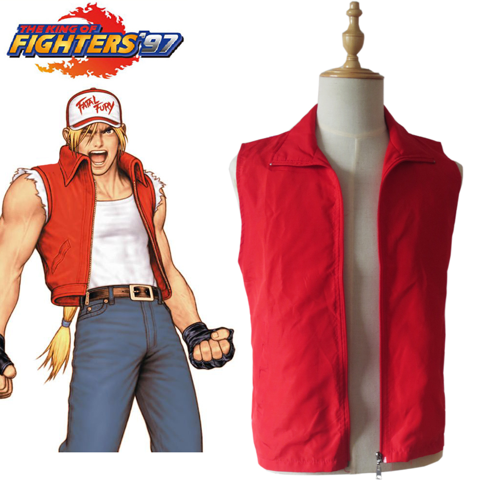 KOF King of Fighters Fatal Fury Terry Bogard Jacket Vest Game Cosplay Costume Halloween Carnival Party Costume Custom