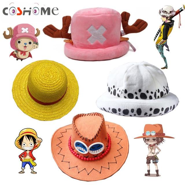 Coshome One Piece Rufy Giallo Paglietta cappello di Paglia Cappelli Della  Spiaggia Tony Chopper Trafalgar Law 9b919baecdd9