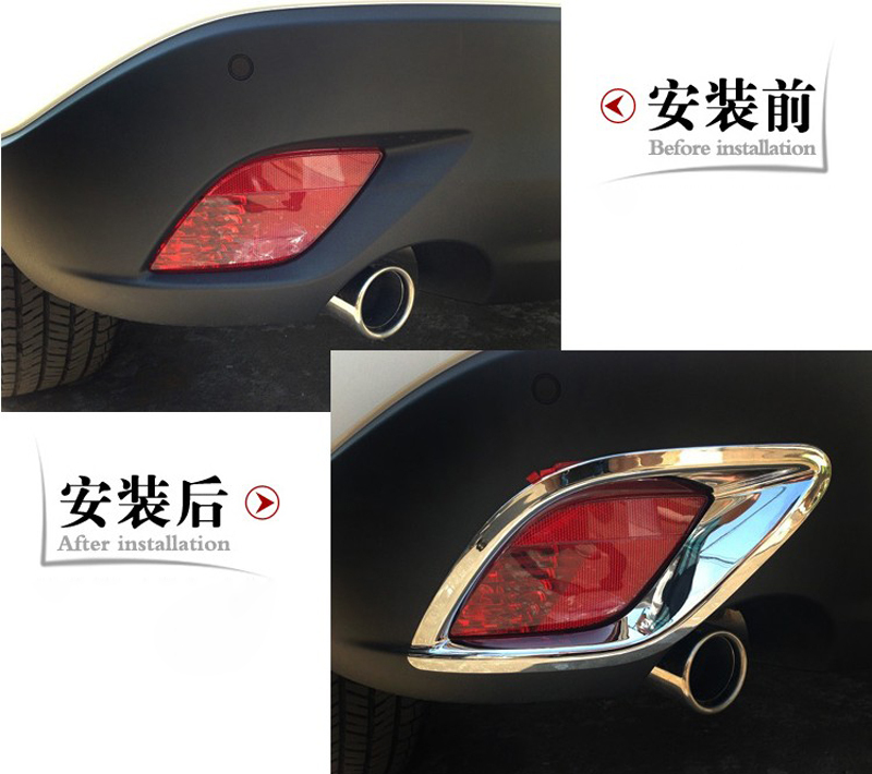 Abaiwai Abs Chrome Tail Rear Fog Light Lamp Cover Trim Frame For Mazda CX 5 CX5 2013 2014 2015 2016 Car Styling Accessories 2pcs