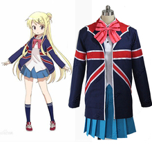 Kiniro Mosaic Karen Kujo Cosplay Costume Lolita Japanese School Uniform Full Set