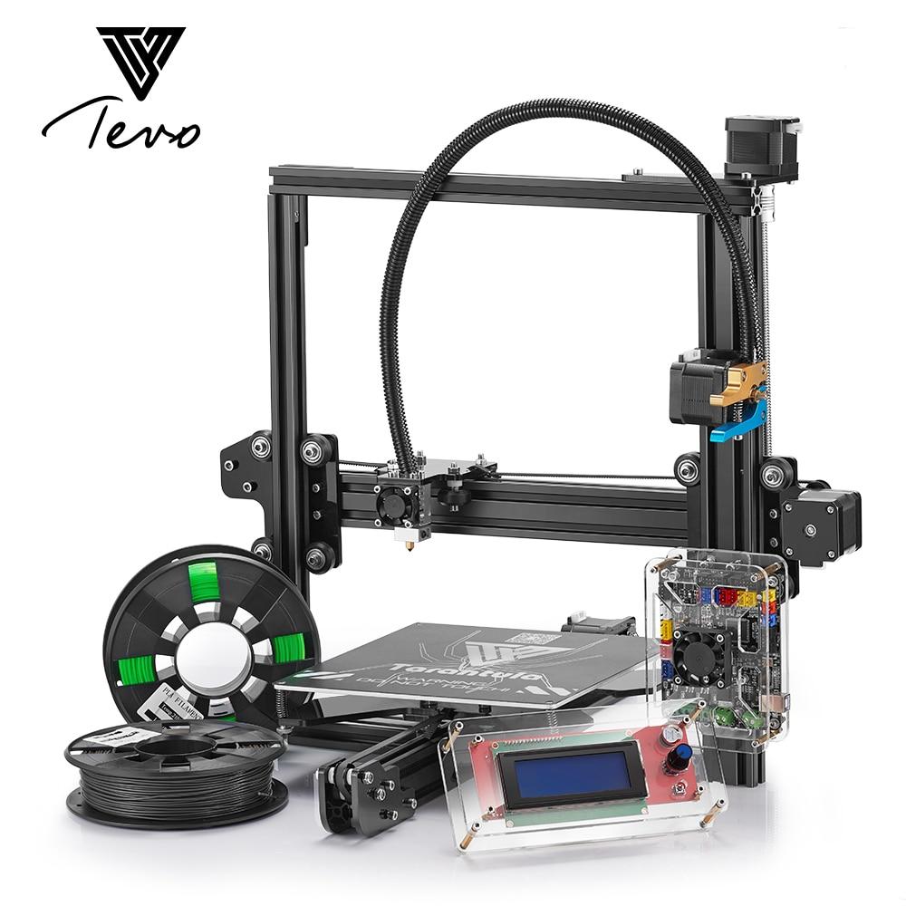 2017 TEVO Tarentule I3 Impressora 3D D'extrusion D'aluminium 3D Imprimante kit imprimante 3d impression 2 Rouleaux Filament carte SD LCD comme Cadeau