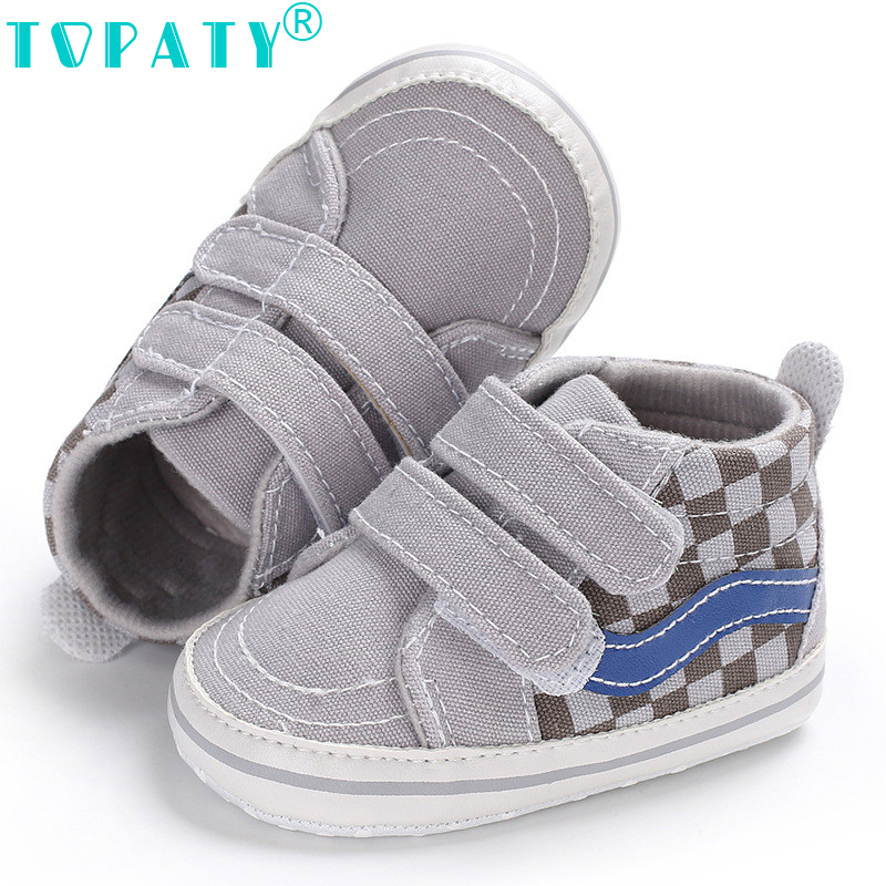 VS Classic Sneakers for 0-18Month Baby Boys plaid Canvas Shoes Moccasins Bebe Sapatos Newborn Toddler Crib Shoes