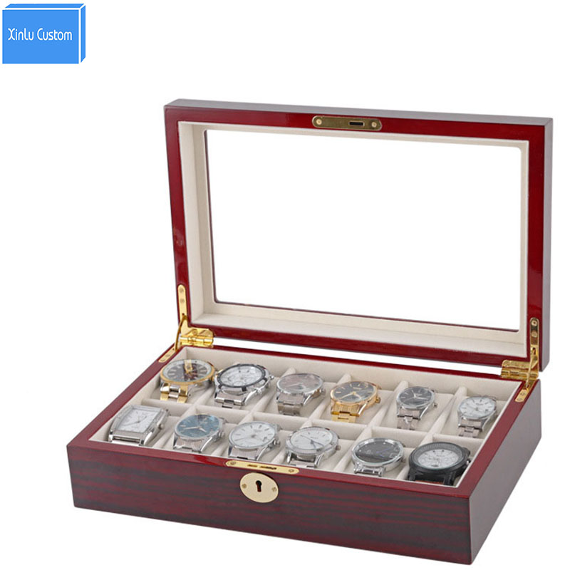 Jewelry/Accessories/Watch Storage&Display Box Case Wood/Lock/Window for Luxury Brand Watches Shop Wholesale ReliableBox Supplier fashion luxury wood watch box top yellow durable watch storage case original brand watch display boxes jewelry gift box w058