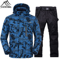 SAENSHING New Ski Suits for Men Waterproof Thermal Skiing Snowboarding Snowboard Suits Set Winter Windproof Ski Jacket Pants