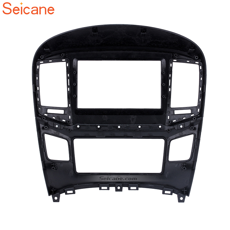 купить Seicane Double Din Car Fascia Frame Refitting Cover Trim Mount Kit For 2015 HYUNDAI STAREX H1 по цене 4369.52 рублей