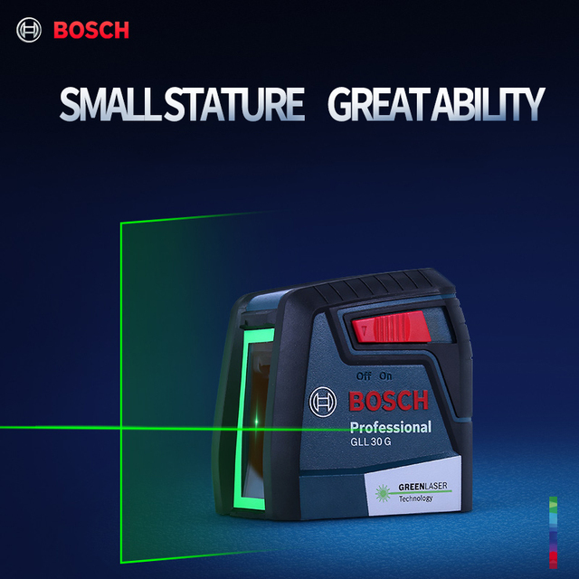 Bosch laser level gll30g green light horizontal and vertical high precision two-line instrument indoor and outdoor spirit level