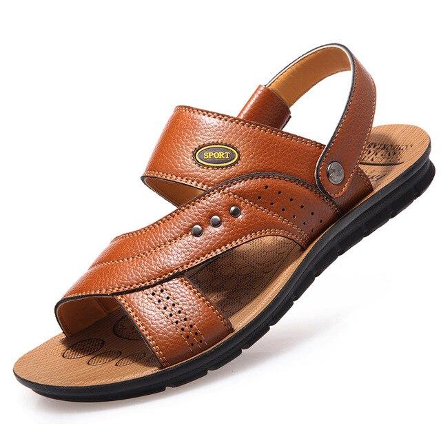 Summer Men Sandals Comfort Men Shoes Beach Shoes Genuine Leather Men Casual Shoes Male Shoes Adult Footwear Men 39 S Sandals