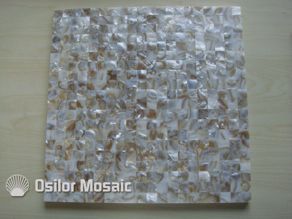 Natural dapple color square pattern 100% Chinese freshwater shell mother of pearl tile for interior house decoration wall tile environmentally friendly pvc inflatable shell water floating row of a variety of swimming pearl shell swimming ring