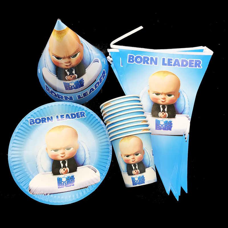 72pcs Lot Baby Boss Party Set Little Boss Theme Birthday