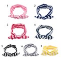 Cute Cheer Bows Baby Headband Striped Bow Shaped Girls Hair Accessories 7 Colors
